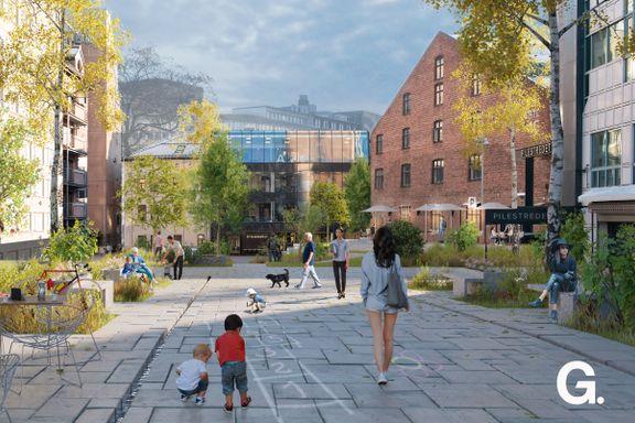 Planer om boligblokk og gågate  i Oslo sentrum  møter sterk motstand