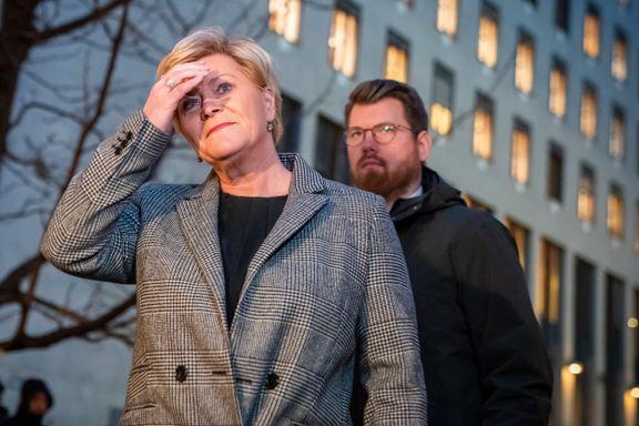 Regjeringskrise kan utløse debatt om Siv Jensens lederskap