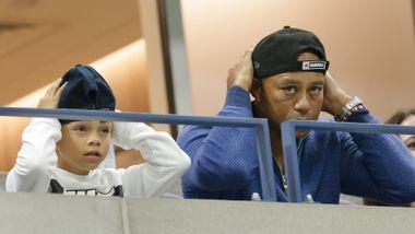 Tiger Woods' sønn vekker oppsikt i viralt klipp