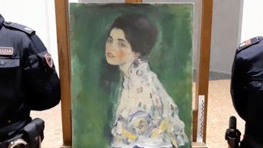 23 år etter at det ble stjålet, ble det verdifulle maleriet av Gustav Klimt funnet skjult i en vegg