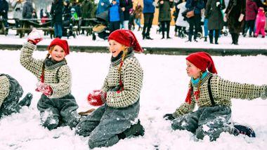 Nissestreker på Folkemuseets julemarked