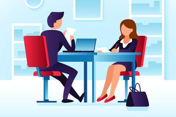 Når arbeidsgiver på slutten av jobbintervjuet spør om du har flere spørsmål, er det én ting du ikke bør svare