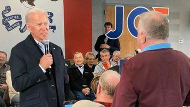 Hissig Biden utfordret velger til IQ-test og armhevinger